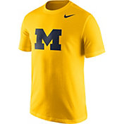 Nike Men's Michigan Wolverines Maize Logo T-Shirt