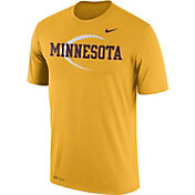Nike Men's Minnesota Golden Gophers Gold Football Icon Legend T-Shirt