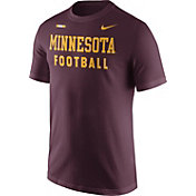 Nike Men's Minnesota Golden Gophers Maroon Football Sideline Facility T-Shirt