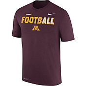 Nike Men's Minnesota Golden Gophers Maroon FootbALL Sideline Legend T-Shirt