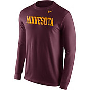 Nike Men's Minnesota Golden Gophers Maroon Wordmark Long Sleeve Shirt