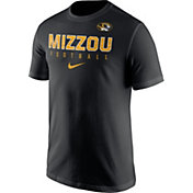 Nike Men's Missouri Tigers Football Practice Black T-Shirt