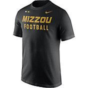 Nike Men's Missouri Tigers Football Sideline Facility Black T-Shirt