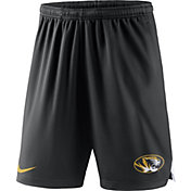Nike Men's Missouri Tigers Black Knit Football Sideline Performance Shorts