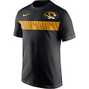 Nike Men's Missouri Tigers Team Stripe Football Black T-Shirt
