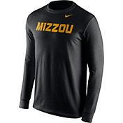 Nike Men's Missouri Tigers Black Wordmark Long Sleeve Shirt