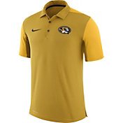 Nike Men's Missouri Tigers Gold Team Issue Football Sideline Performance Polo