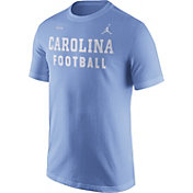 Jordan Men's North Carolina Tar Heels Carolina Blue Football Sideline Facility T-Shirt