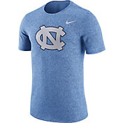 Nike Men's UNC Tar Heels Carolina Blue Marled Logo T-Shirt
