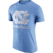 Jordan Men's North Carolina Tar Heels Carolina Blue Basketball Tri-Blend T-Shirt