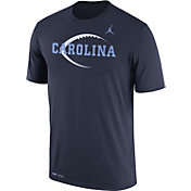 Jordan Men's North Carolina Tar Heels Navy Football Icon Legend T-Shirt