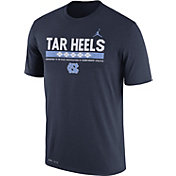 Jordan Men's North Carolina Tar Heels Navy Football Staff Legend T-Shirt