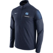 Nike Men's North Carolina Tar Heels Navy Elite Coaches Half-Zip Shirt