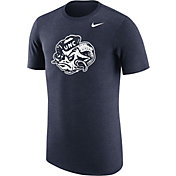 Nike Men's North Carolina Tar Heels Heathered Navy Vault Tri-Blend T-Shirt