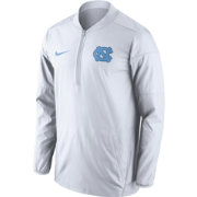 Nike Men's North Carolina Tar Heels Lockdown White Half-Zip Performance Jacket