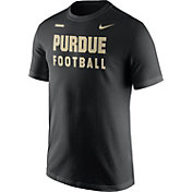Nike Men's Purdue Boilermakers Football Sideline Facility Black T-Shirt