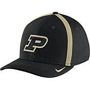 Nike Men's Purdue Boilermakers Black Aerobill Swoosh Flex Classic99 Football Sideline Hat