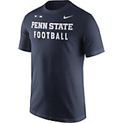 Nike Men's Penn State Nittany Lions Blue Football Sideline Facility T-Shirt