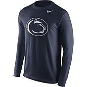 Nike Men's Penn State Nittany Lions Blue Logo Long Sleeve Shirt