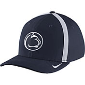 Nike Men's Penn State Nittany Lions Blue Aerobill Swoosh Flex Classic99 Football Sideline Hat