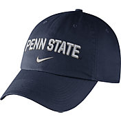 Nike Men's Penn State Nittany Lions Blue Heritage86 Wordmark Swoosh Flex Hat