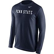 Nike Men's Penn State Nittany Lions Blue Wordmark Long Sleeve Shirt