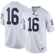 Nike Men's Penn State Nittany Lions White #16 Game Football Jersey