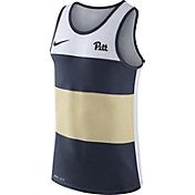Nike Men's Pitt Panthers White/Blue/Gold Wide Stripe Dri-Blend Tank