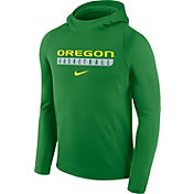 Nike Men's Oregon Ducks Apple Green Basketball Performance Hoodie