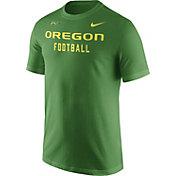 Nike Men's Oregon Ducks Apple Green Football Sideline Facility T-Shirt