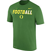 Nike Men's Oregon Ducks Apple Green FootbALL Sideline Legend T-Shirt