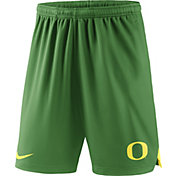 Nike Men's Oregon Ducks Green Knit Football Sideline Performance Shorts
