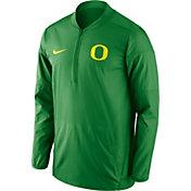 Nike Men's Oregon Ducks Apple Green Lockdown Half-Zip Performance Jacket