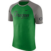 Nike Men's Oregon Ducks Apple Green/Grey Script Tri-Blend Raglan T-Shirt