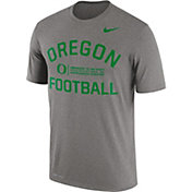 Nike Men's Oregon Ducks Grey Lift Football Legend T-Shirt