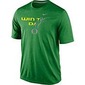 Nike Men's Oregon Ducks Apple Green Project Fresh Championship Drive Legend Football T-Shirt