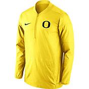 Nike Men's Oregon Ducks Yellow Lockdown Half-Zip Performance Jacket