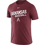 Nike Men's Arkansas Razorbacks Cardinal Team Issue Baseball T-Shirt