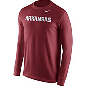Nike Men's Arkansas Razorbacks Cardinal Wordmark Long Sleeve Shirt