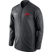 Nike Men's Arkansas Razorbacks Anthracite Lockdown Half-Zip Performance Jacket