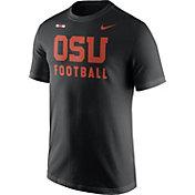 Nike Men's Oregon State Beavers Football Sideline Facility Black T-Shirt