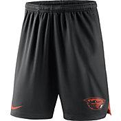 Nike Men's Oregon State Beavers Black Knit Football Sideline Performance Shorts