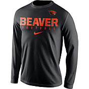Nike Men's Oregon State Beavers Football Practice Black Long Sleeve Shirt