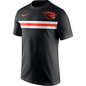 Nike Men's Oregon State Beavers Team Stripe Football Black T-Shirt