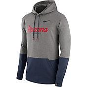 Nike Men's Arizona Wildcats Grey/Navy Therma Hoodie