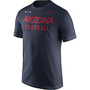 Nike Men's Arizona Wildcats Navy Football Sideline Facility T-Shirt