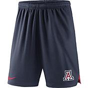 Nike Men's Arizona Wildcats Navy Knit Football Sideline Performance Shorts