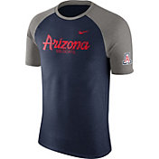 Nike Men's Arizona Wildcats Cardinal/Grey Script Tri-Blend Raglan T-Shirt
