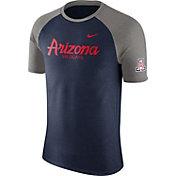 Nike Men's Arizona Wildcats Cardinal/Grey Script Tri-Blend Raglan T-Shirt