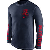 Nike Men's Arizona Wildcats Navy Fresh Tri-Blend Long Sleeve Shirt